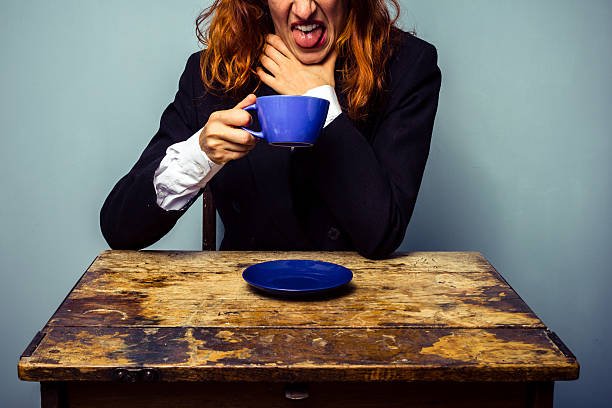 Reaction to coffee from a dirty coffee maker.