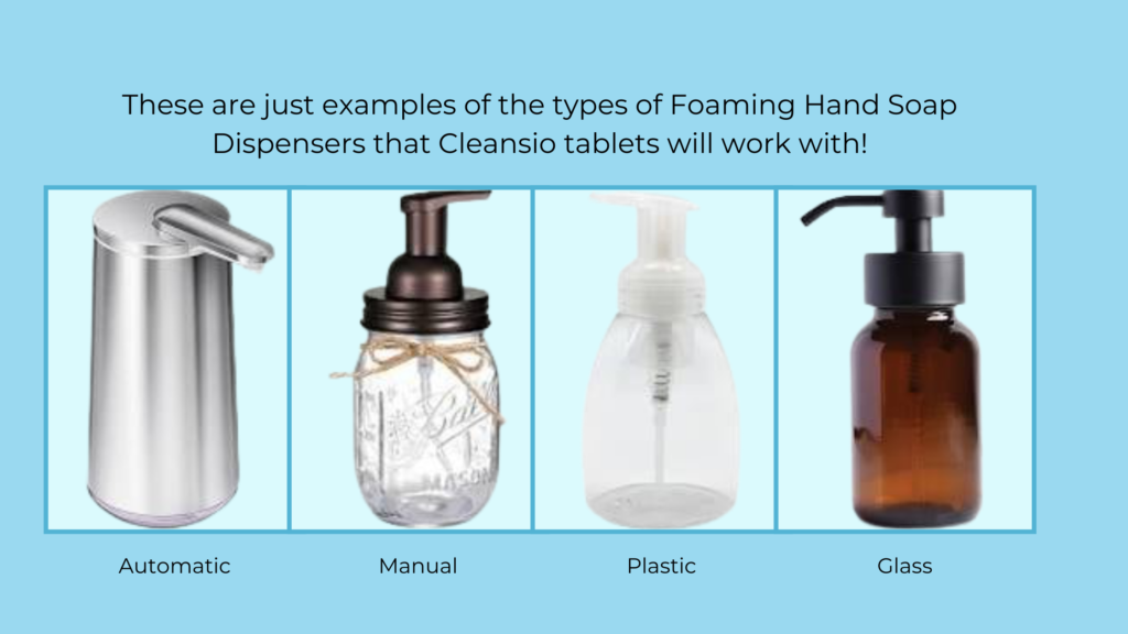 Any Foaming Hand Soap Dispenser is Compatible with Cleansio Hand Soap Tablets